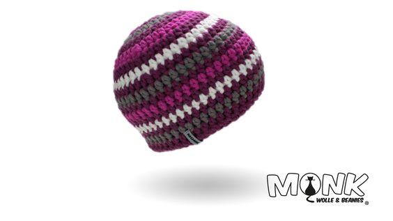 Mützen & Beanies häkeln - MONK Wolle & Beanies - Mütze häkeln, Beanie häkeln, Häkelanleitung kostenlos