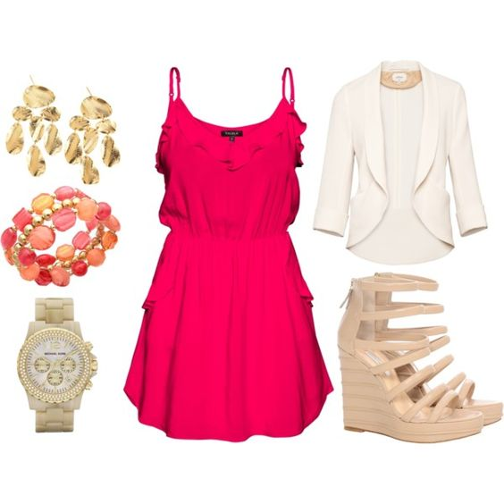 one dress, many looks, created by kaitydee