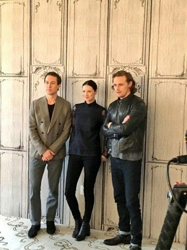 Tobias, Caitriona and Sam at the Builds Originals interview