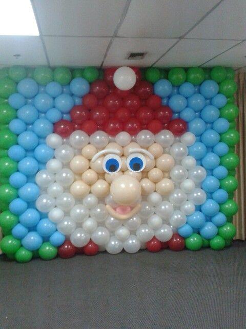 Mural globos navide o ballonnen balloons for Mural navideno