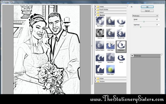 How to make a Coloring Book - Easy Photoshop tutorial