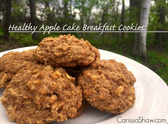 Healthy Apple Cake Breakfast Cookies - PLUS how to make and use oat flour