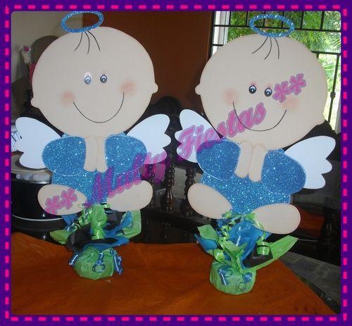 Angelitos para Bautizo  Hechos para decorar la mesa de dulces!!!