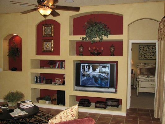 Drywall Entertainment Center And Built Ins On Pinterest
