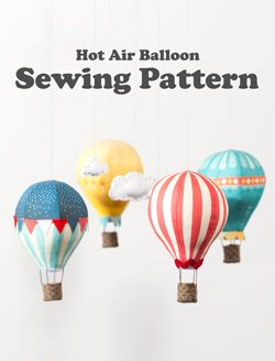 Step-by-step instructions for DIY Hot Air Balloon mobile