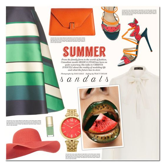 """""""The Cutest Summer Sandals"""" by anna-anica ❤ liked on Polyvore featuring Camilla Elphick, Proenza Schouler, Accessorize, Lanvin, Oasis, Valextra, Summer, outfit, sandals and summersandals"""