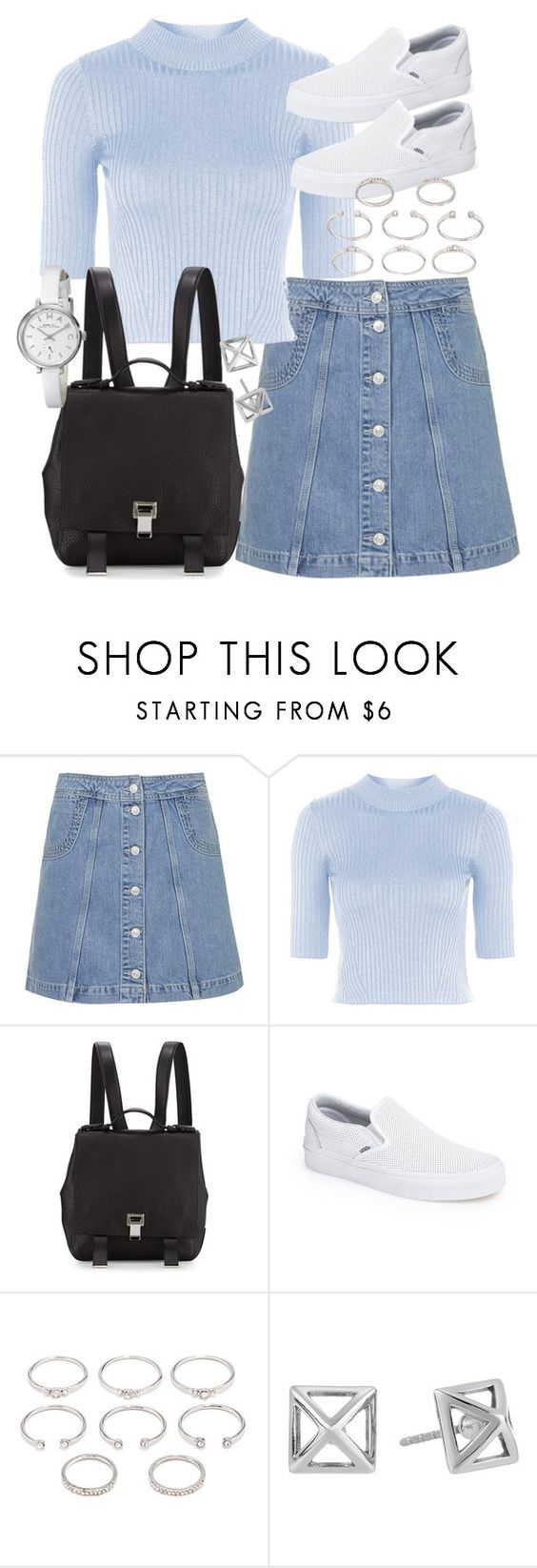 """Untitled #18852"" by florencia95 ❤ liked on Polyvore featuring Topshop, Proenza Schouler, Vans, Forever 21, Rebecca Minkoff and Marc by Marc Jacobs"