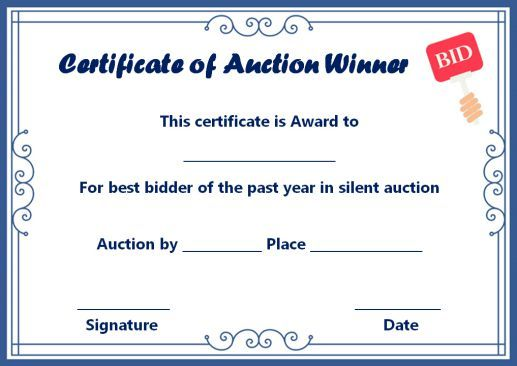 Silent Auction Template Design Creative And Unique Templates On