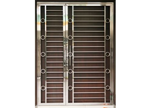 Stainless Steel Door Grill Malaysia Quality Door Grill Wooden Main Door Design 10 Solid Ideas For Your In In 2020 Wooden Main Door Steel Gate Design Grill Gate Design