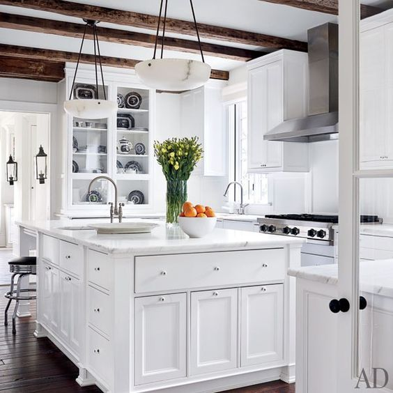The kitchen of a Washington, D.C.–area home renovated by architect Donald Lococo and designer Darryl Carter.