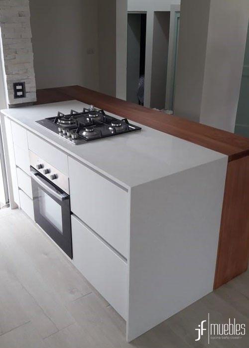 Muebles de cocina en melamina laricina de 18mm, herrajes con ...