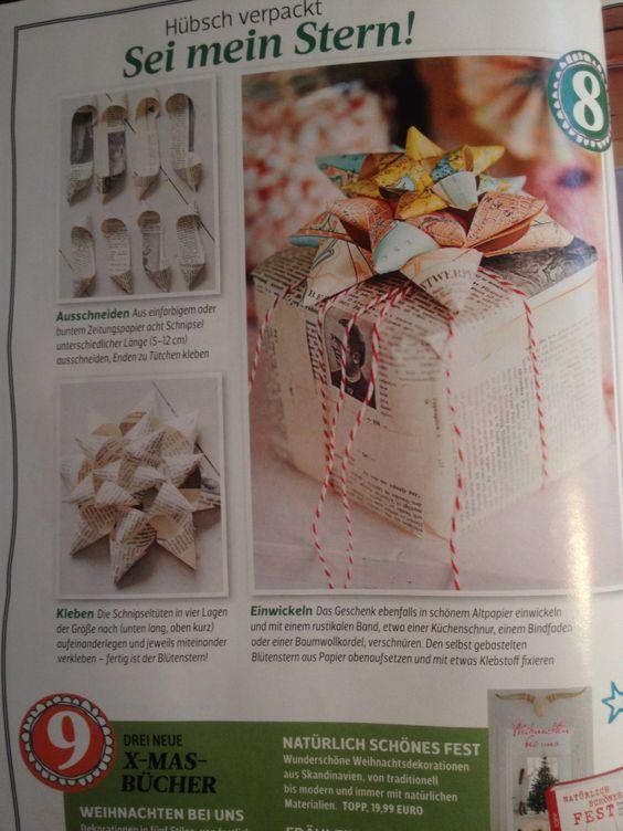 Sterne für geschenkverpackung