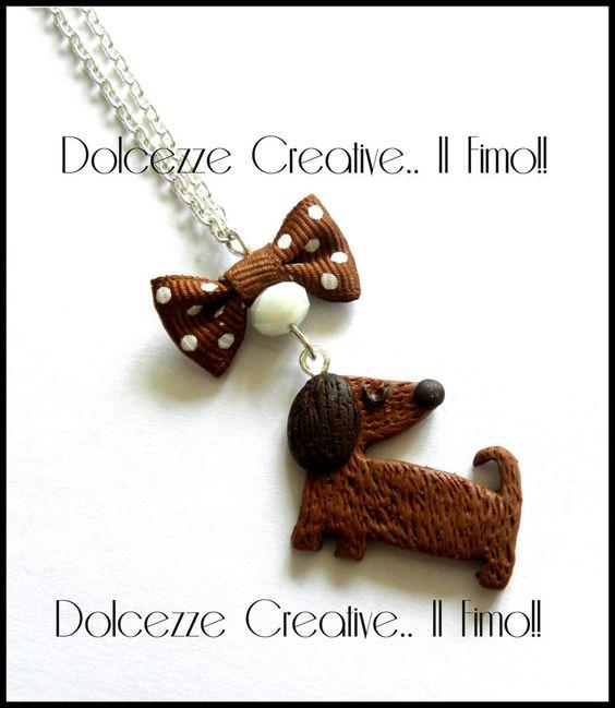 Collana Bassotto Pelo Lungo, by Dolcezze creative.. il fimo!! , 10,00  su misshobby.com