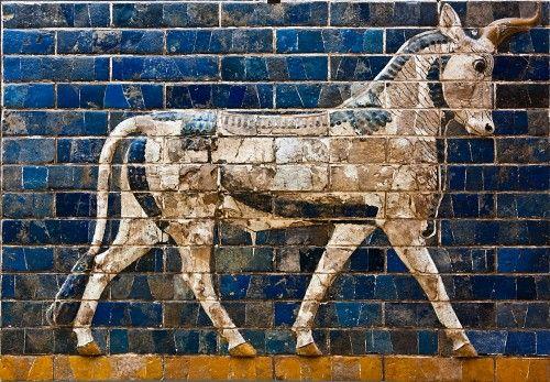 Aurochs from Ishtar gate (Illustration) - Ancient History Encyclopedia