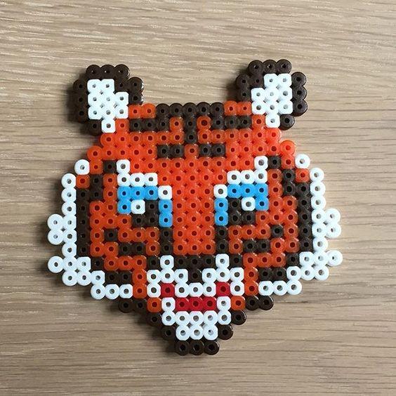 Tiger hama beads by perlepige b gelperlen pinterest photos perles hama et perles - Perle a repasser ikea ...