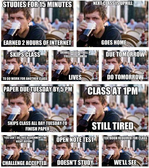 lazy college senior: a compilation. ejayefirst