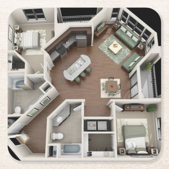Create Your Own Paper Coaster Zazzle Com In 2020 Sims House Plans House Plans Sims House
