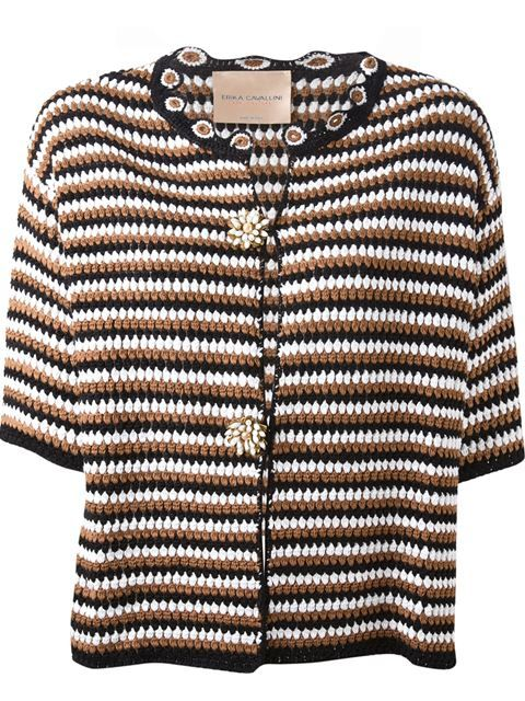 Shop Erika Cavallini Semi Couture crochet cardigan in Pozzilei from the world's best independent boutiques at farfetch.com. Over 1000 designers from 300 boutiques in one website.