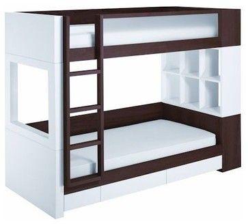 Nurseryworks - Duet Bunk Bed w/ Storage - contemporary - kids beds - charlotte - AtoZ Stores