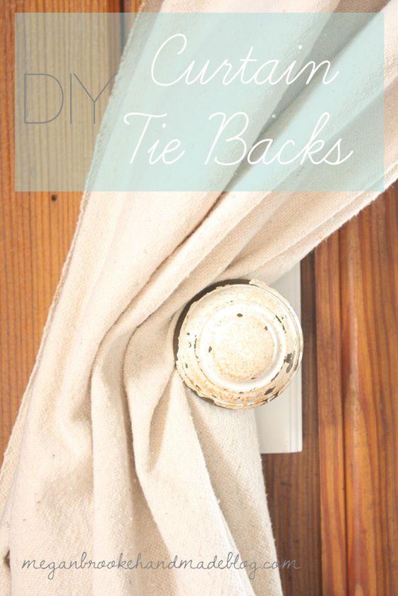 Painted door knobs, Sacks and Curtain tie backs on Pinterest