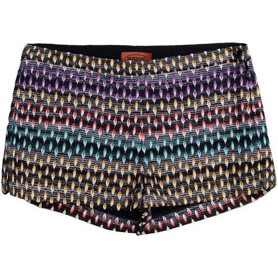 Missoni Shorts ($340) ❤ liked on Polyvore