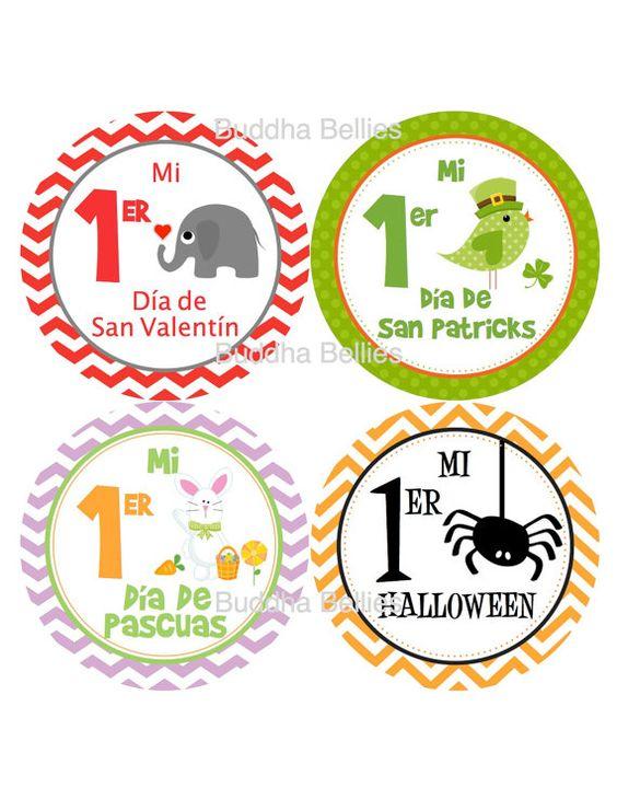 Spanish Holiday Set - Mi 1er Halloween, Mi 1er Dia De Accion de Gracias - First Holiday Set