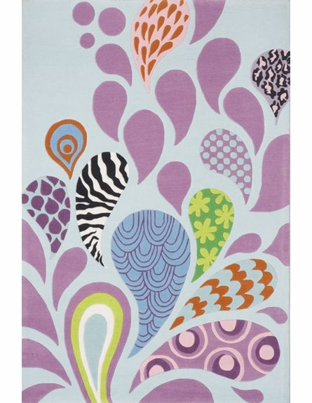 Paisley Explosion Rug, Patterned Rugs,Round & Oval Rugs, Rugs for Girls