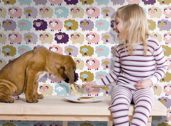 Wallpaper Marketa from Kiss for Kids Collection by Lavmi
