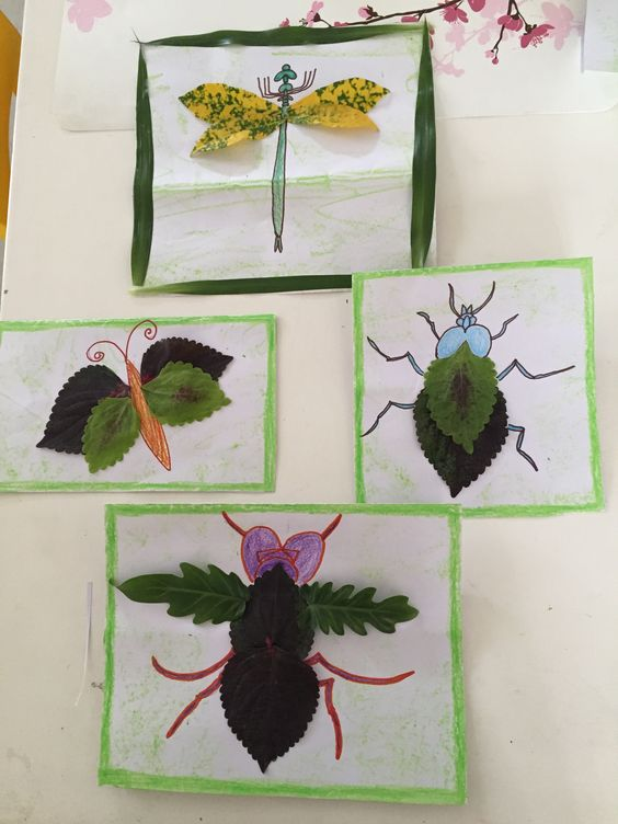 Make leaf insects, a fall nature craft to celebrate the season with your children!: