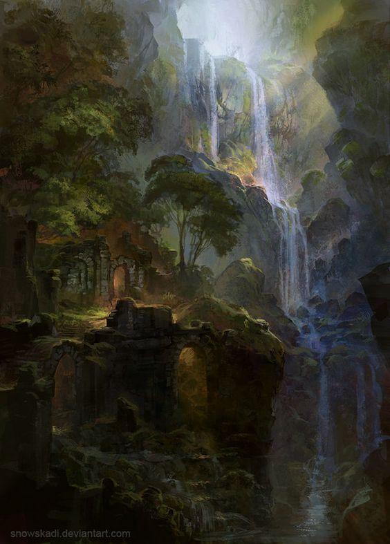 Auf der Reise (im Vergessenen Land, tief im Wald)