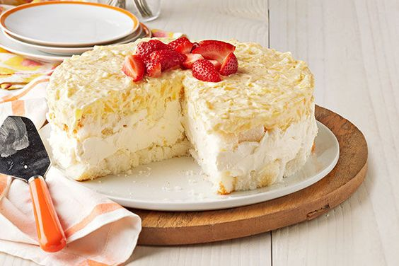 Postre sin hornear de cheesecake de piña Receta
