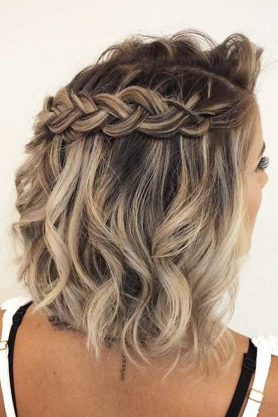 Braid Styles For Short Wavy Hair Prom Hairstyles For Short Hair Braids For Short Hair Medium Hair Styles