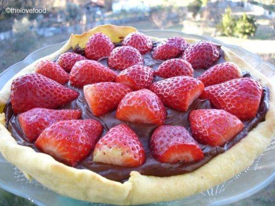 Tarte de morangos com ganache de chocolate e menta | The Love Food
