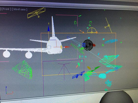 Our project of airplane crash :O There is still work to do, but it looks great already. #VFX