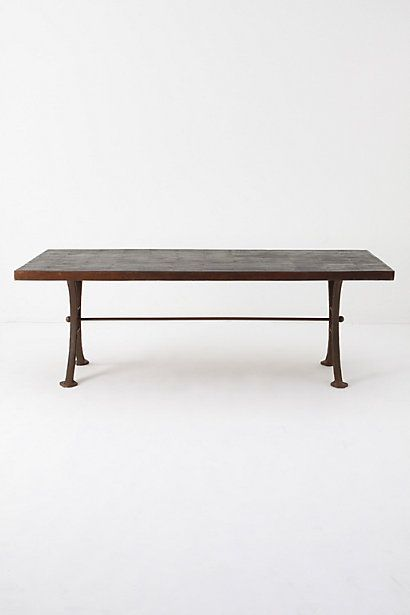 Burnt Wood Dining Table #anthropologie