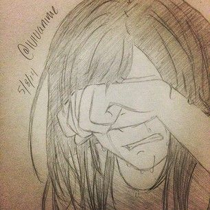how to draw people crying