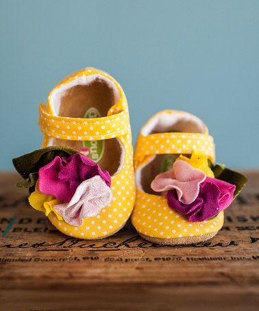 Yellow & Pink Polka Dot Sprinkles Mary Janes #zulilyfinds