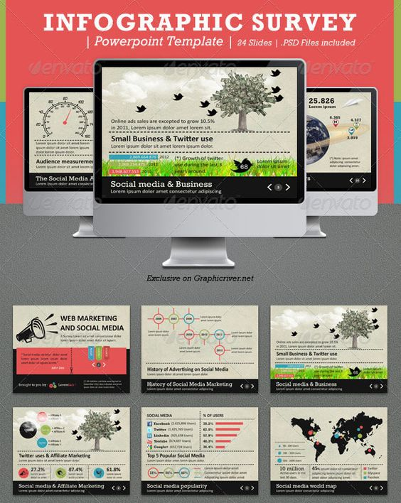 Download Infographic Survey Powerpoint Template → | PROJECT 3 ...