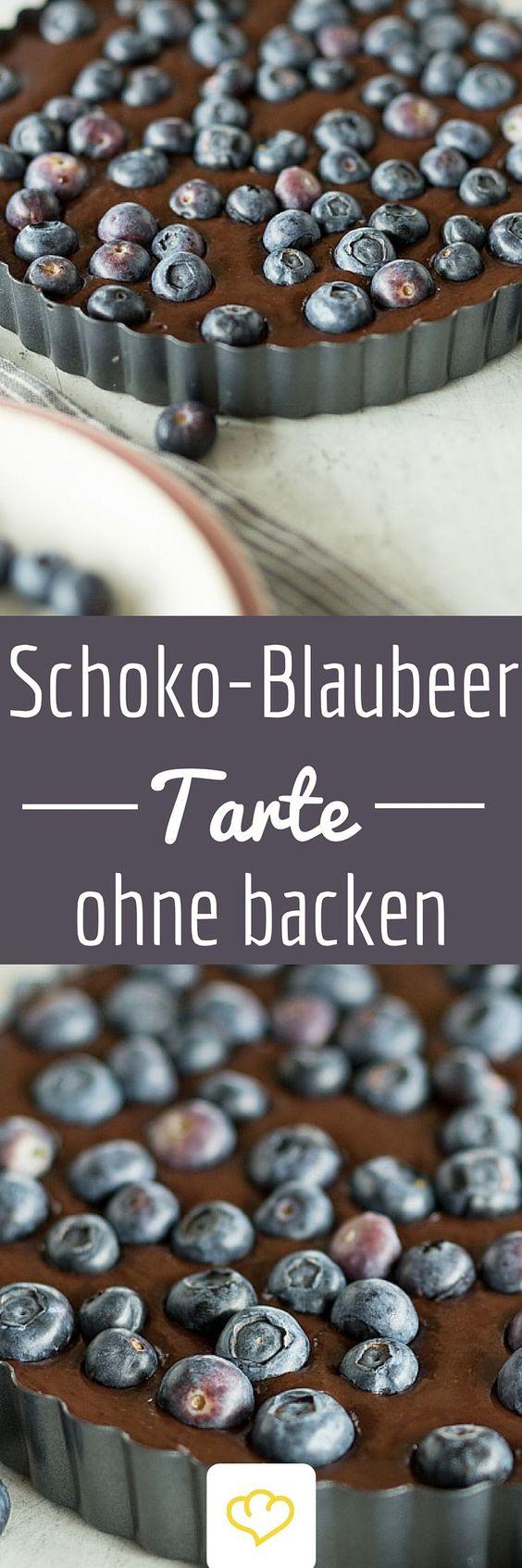 Dunkler Boden Ohne Backen : Schokoladen Blaubeer Tarte ohne Backen  Ein Traum für Chocoholics