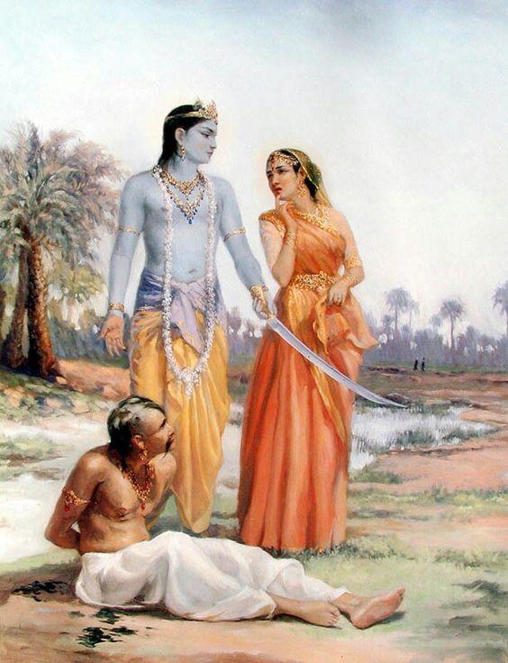 Lord Krishna chastises Rukmi.
