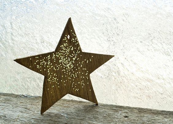 Vintage Star Ornament Wooden Christmas by NostalgicWarehouse