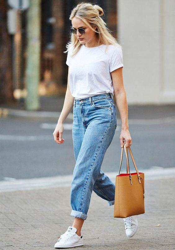 Look com calça jeans super fashion