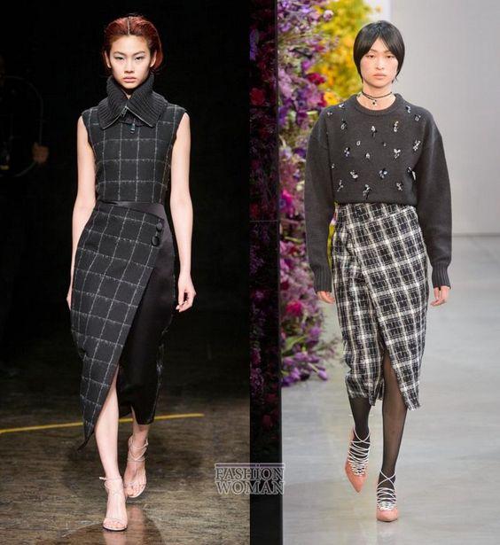 Модные юбки осень-зима 2018-2019 фото №20