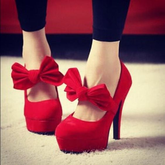 red bow heels. yes please. | Things to Wear | Pinterest | Pump
