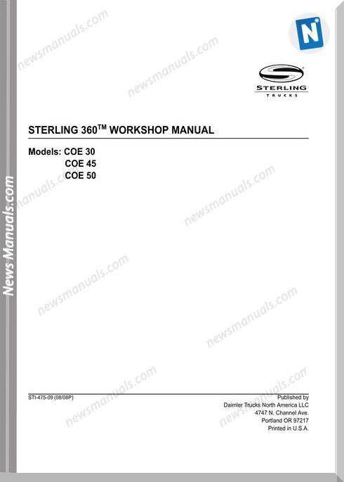 Freightliner Sterling 360 Workshop Manual 2009 Freightliner Manual Workshop