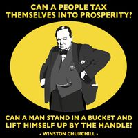 Churchill: Can a People Tax Themselves into Prosperity T-shirt