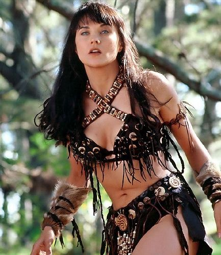 Lucy Lawless, as Xena.