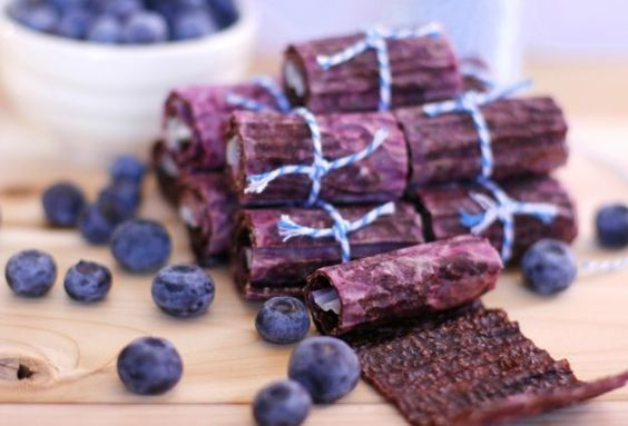 blueberry fruit leather