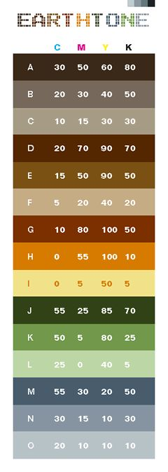 Cmyk Color Guide  A Color Schemes Interior    Pallets