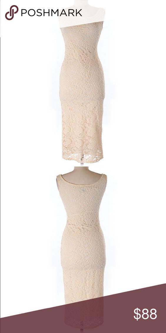 "ASOS Beige Lace Dress ASOS Beige Lace Dress measurements 30"" chest 41"" length tup ASOS Dresses Midi"